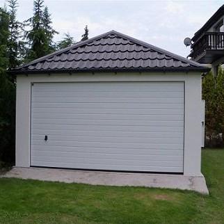 Montovaná garáž - omítka